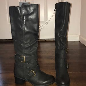 Mossimo Supply Co Black Riding Boot -Size:6.5 NWT!